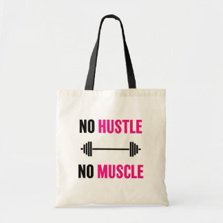 No Hustle No Muscle workout bag