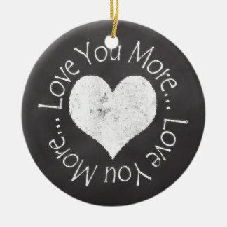 No, I Love You More Christmas Ornament