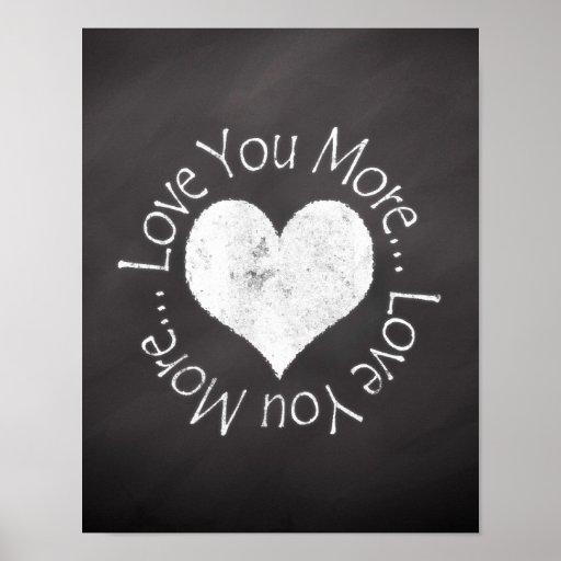 No, I Love You More Print