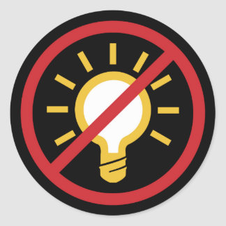No Idea Classic Round Sticker