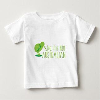 No, I'm NOT AUSTRALIAN (with kiwi bird and map) Baby T-Shirt