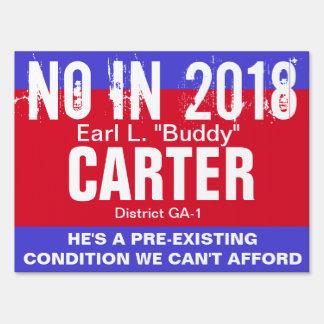 No in 2018: Carter GA-1 Sign
