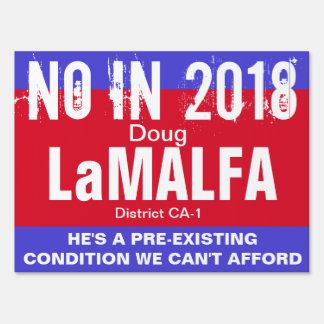 No in 2018: LaMalfa CA-1 Sign