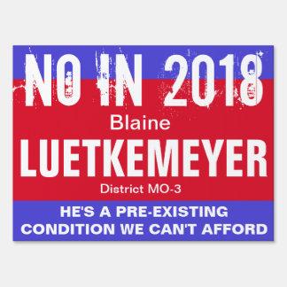 No in 2018: Luetkemeyer MO-3 Sign