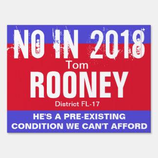 No in 2018: Rooney FL-17 Sign
