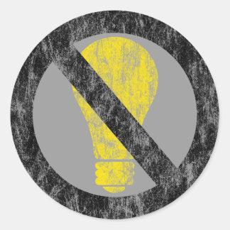 no incandescent bulbs classic round sticker