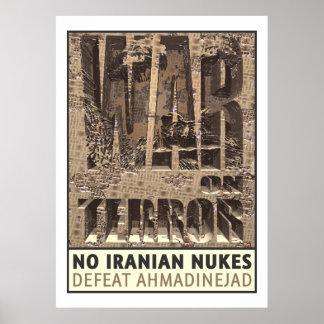 No Iranian Nukes Poster