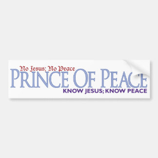No Jesus, No peace Bumper Sticker