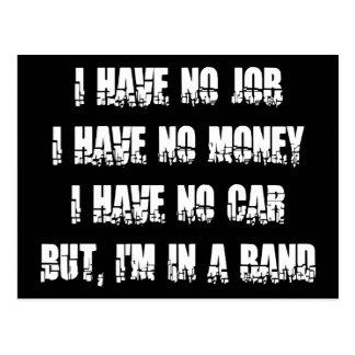 No Job - No Money - No Car Postcard