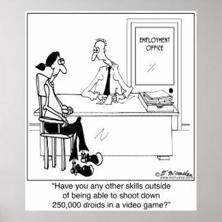 No Job Skills? Poster