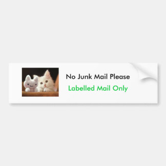 No Junk Mail Bumper Sticker