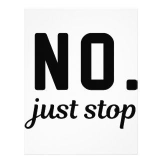 No Just Stop Letterhead