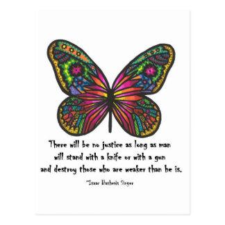 No justice quote postcard