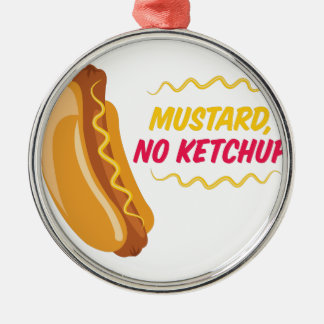 No Ketchup Silver-Colored Round Ornament