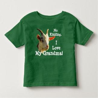 """No Kidding. I Love My Grandma!"" with goat Toddler T-shirt"