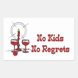 No Kids No Regrets Sticker