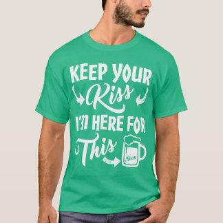 No Kisses Irish Drinking Humor T-Shirt