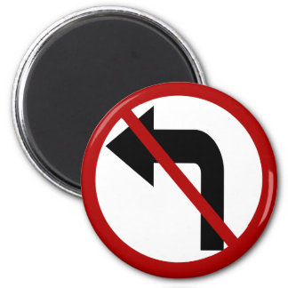 NO Left Turn Magnet