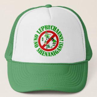 No leprechauns, no shenanigans trucker hat