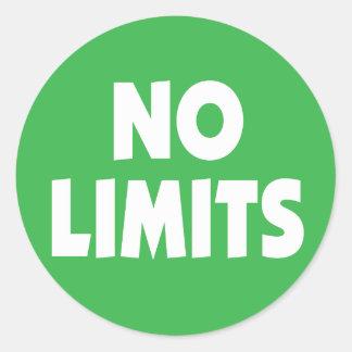 No Limits motivational slogan Classic Round Sticker