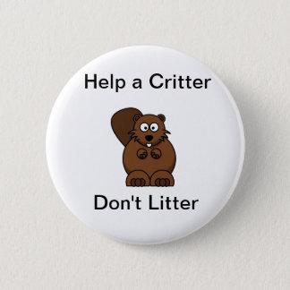 no littering 2 inch round button