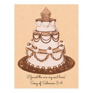 No Longer 2~Wedding Cake~Scripture RSVP Postcard