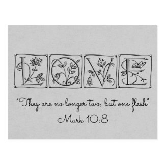 No longer two-but one flesh~Scripture~Wedding Card