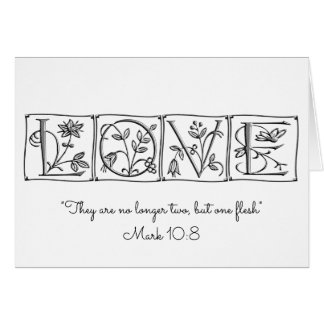 No longer two, but one flesh~Scripture~Wedding Card