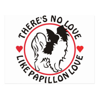 No Love Like Papillon Love Postcard