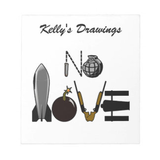 No Love War Weaponry Notepads