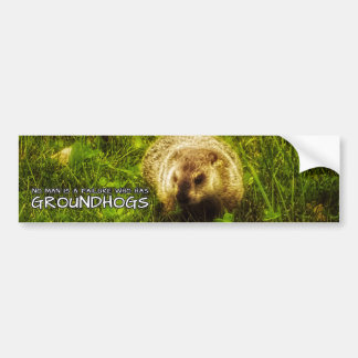 No man is a failure who has Groundhogs Bumper Sticker