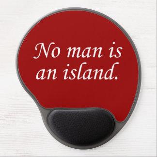No Man Is An Island Gel Mouse Mats