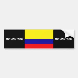 NO MAS FARC BUMPER STICKER
