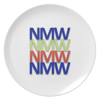 No Matter What — Never Give Up Party Plate