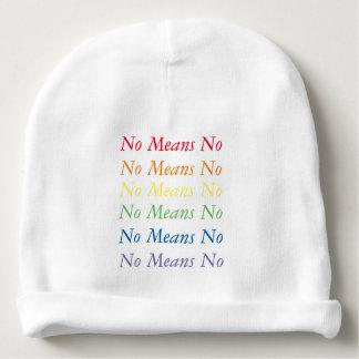 No Means No Beanie Baby Beanie