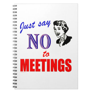 No Meetings Office Humor Notebook