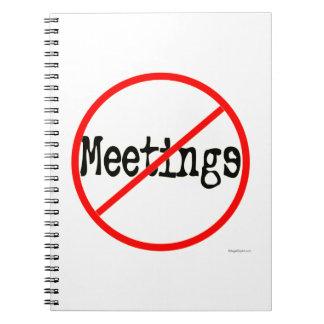 No Meetings Office Humor Notebook