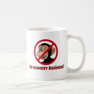 No Monkey Business Coffee Mug