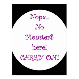 No Monsters Here! Postcard