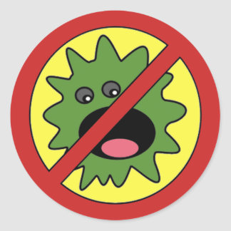 No Monsters Sign Classic Round Sticker