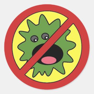 No Monsters Sign Round Sticker