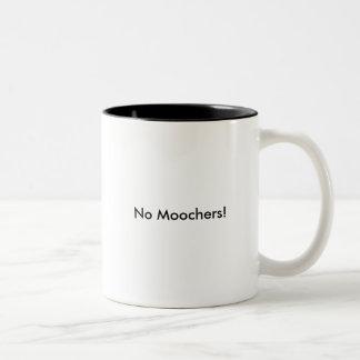 No Moochers! Two-Tone Coffee Mug