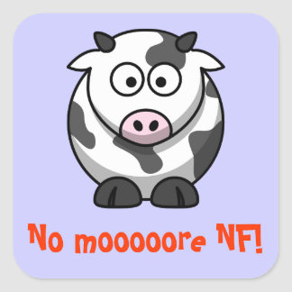 No mooore NF Square Sticker