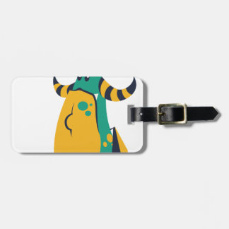 no more cookes, cookies cow design luggage tag