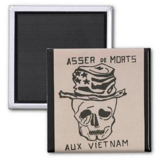 No more deaths_Propaganda_poster Square Magnet
