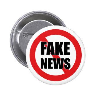 No More Fake News Badge Pin Button