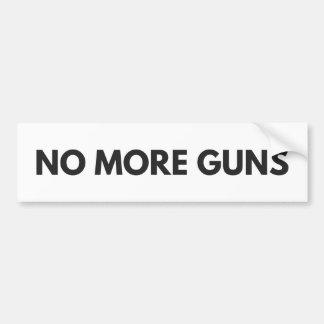 No More Guns Bumper Sticker