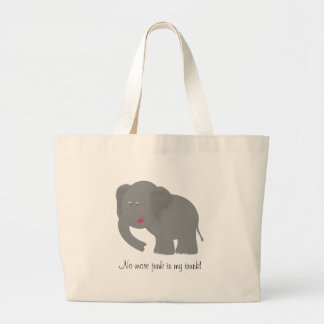 No more junk in my trunk! Jumbo Tote Bag