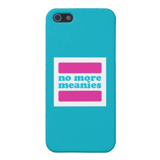 No More Meanies Logo 5/5S iPhone case (trans*) iPhone 5 Cover