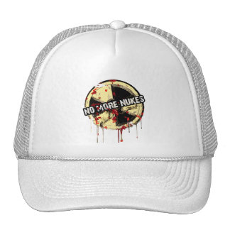 NO MORE NUKES! NO MORE TRAGEDY! TRUCKER HAT